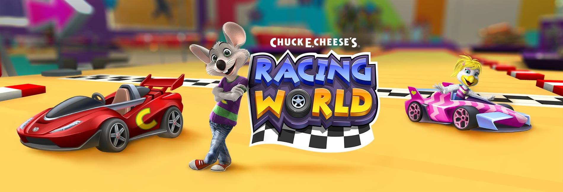 Chcuk E.Cheese's Racing World Banner